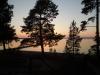Gränsland bjuder på en fin solnergång
